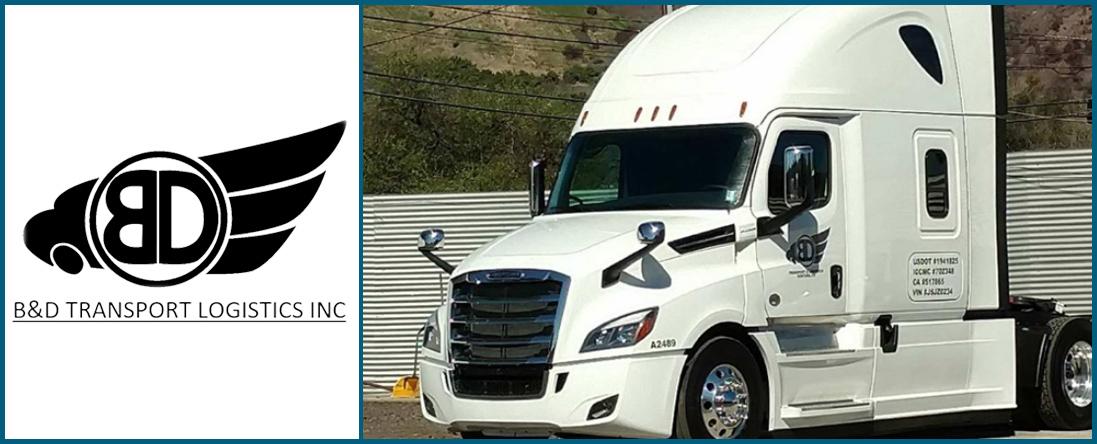 B & D Transport Logistics, Inc offers Trucking Service in Ventura, CA
